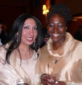 Gracia with another AIDS activist award winner, Deborah Peterson Small, Executive Director, Break the Chains.