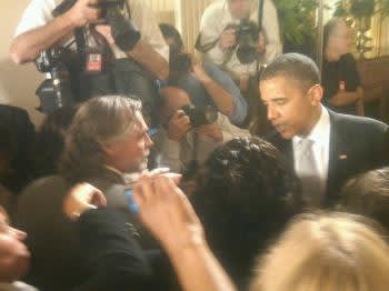 King and Obama, post-speech.