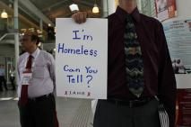 AIDS activists set up a homeless encampment at the International AIDS Conference.