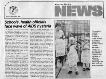 Schools, health officials face wave of AIDS hysteria.