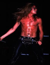 Sebastian Bach (without the offensive t-shirt).