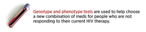 Genotype and phenotype tests are used to help choose a new combination of meds for people who are not responding to their current therapy.