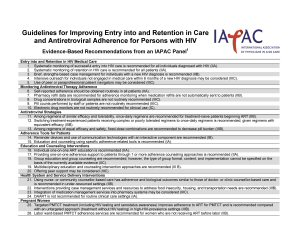 Table 1 adapted from 'Guidelines for Improving Entry Into and Retention in Care and Antiretroviral Adherence for Persons with HIV,' published in the Annals of Internal Medicine.