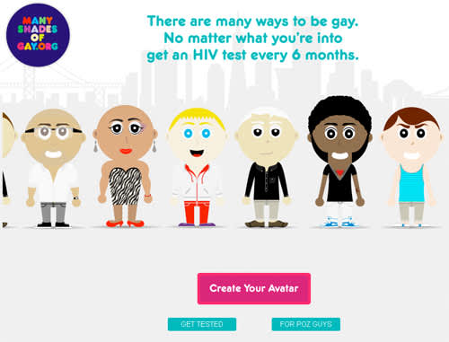 Screen shot of Many Shades of Gay website.
