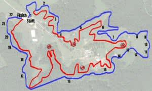 Map of the course -- Maryland/DC I.