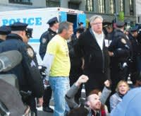 protester being arrested