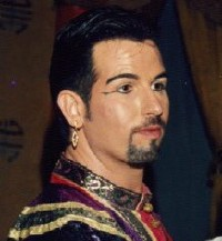 Daniel playing the King in 'The King and I' in 2000, two years after his HIV-positive test result.