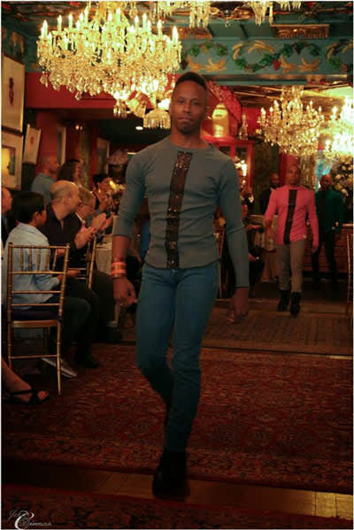 Justin B. Terry-Smith at fashion show