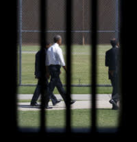 Obama is the first sitting president to visit a federal prison. (Credit: REUTERS/Kevin Lamarque)