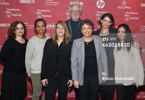 Crew photo is from Sundance, (from right to left) co-editor Gladys Mae Murphy, co-producer Shanti Avirgan, producer/director Jean Carlomusto, editor Geof Bartz, producer Ellin Baumel, supervising producer, Jackie Glover, archival supervisor Rena Zager
