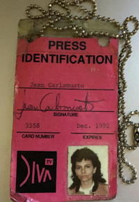 Front of Jean's DIVA Press Pass