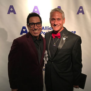 Charles Sanchez and Greg Louganis at the AIDS Service Center of New York City's 25th Anniversary Celebration and 2016 Changemakers Award