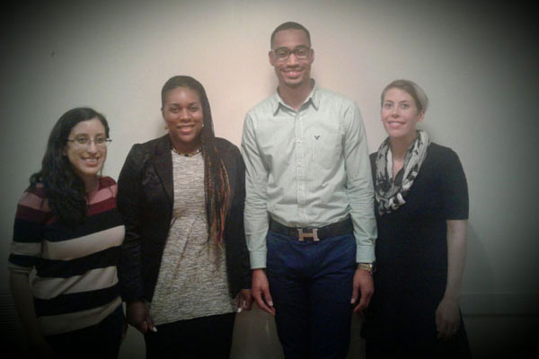 L-R: Nina Martinez, Shyronn Jones, Torrian Baskerville, Emily Brown