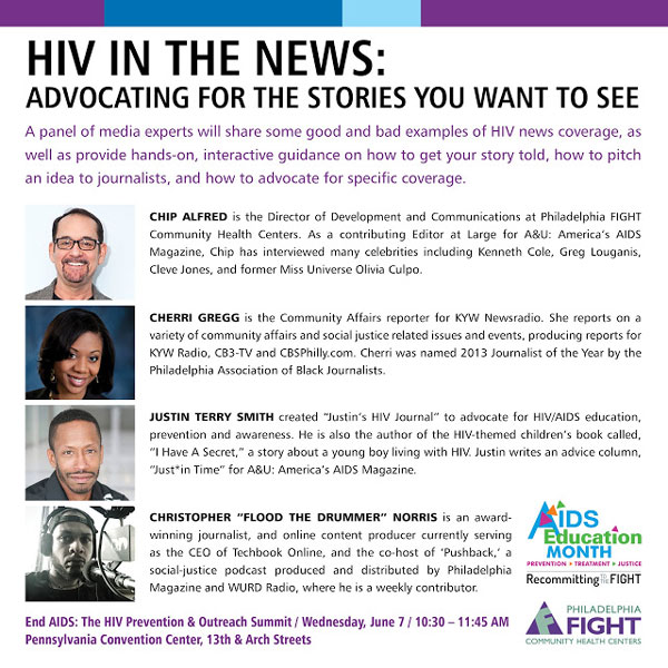HIV in the News flyer