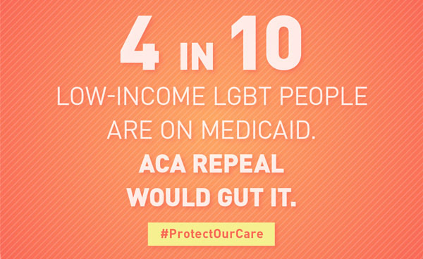 4 in 10 low-income LGBT people are on Medicaid