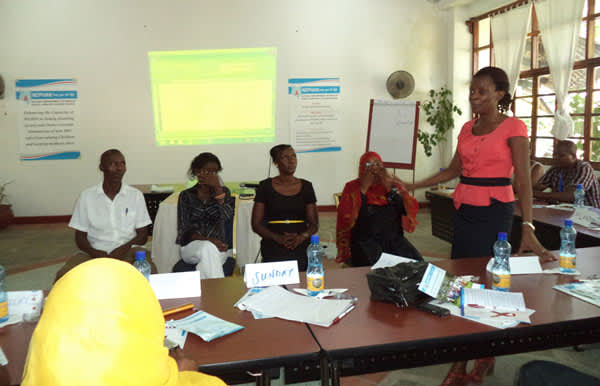 Moderating a PMTCT workshop on prong 1 and 2 in Kilifi County at the Kenyan Coast -- Supported by UNFPA -- 2014