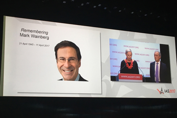 Attendees at IAS 2017 remember HIV researcher Mark Wainberg (Credit: Warren Tong)