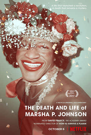 Poster for 'The Death and Life of Marsha P. Johnson'