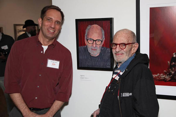 George Towne and Larry Kramer at the Leslie-Lohman Museum