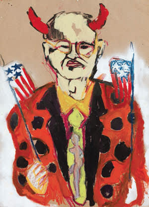 Poster mocking U.S. Senator Jesse Helms from ART+Positive's 1989 demonstration at the Metropolitan Museum of Art in New York City