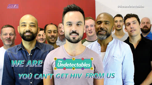 Screenshot from a video produced by the Gay Men's Health Charity in the UK