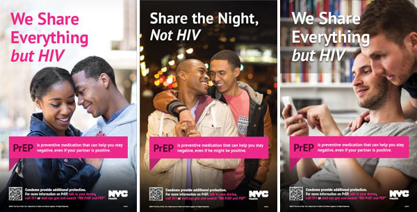 New York City Department of Health PrEP posters