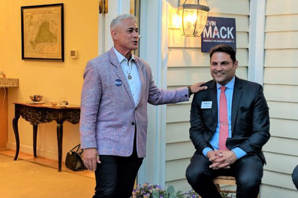 Olympian Greg Louganis speaks on behalf of his friend Kevin Mack