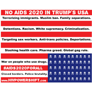 No AIDS 2020 in Trump's USA