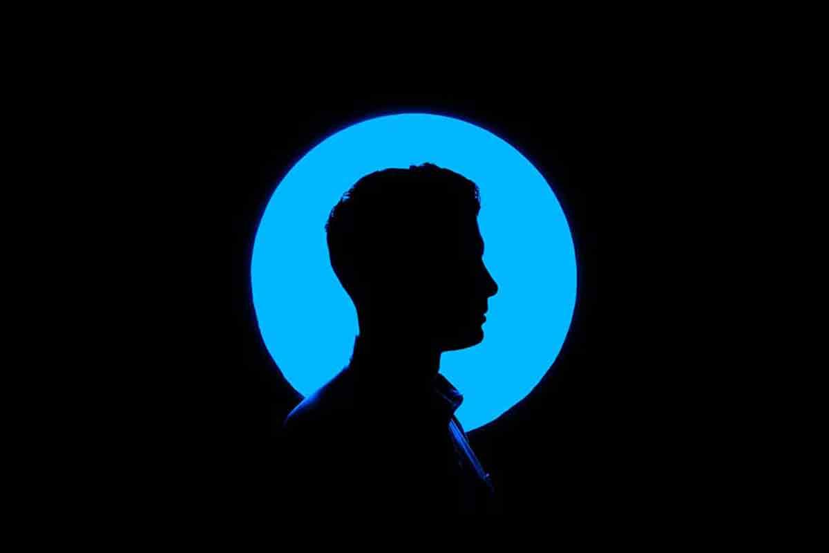 A silhouette of a man's side profile representing a potential user persona