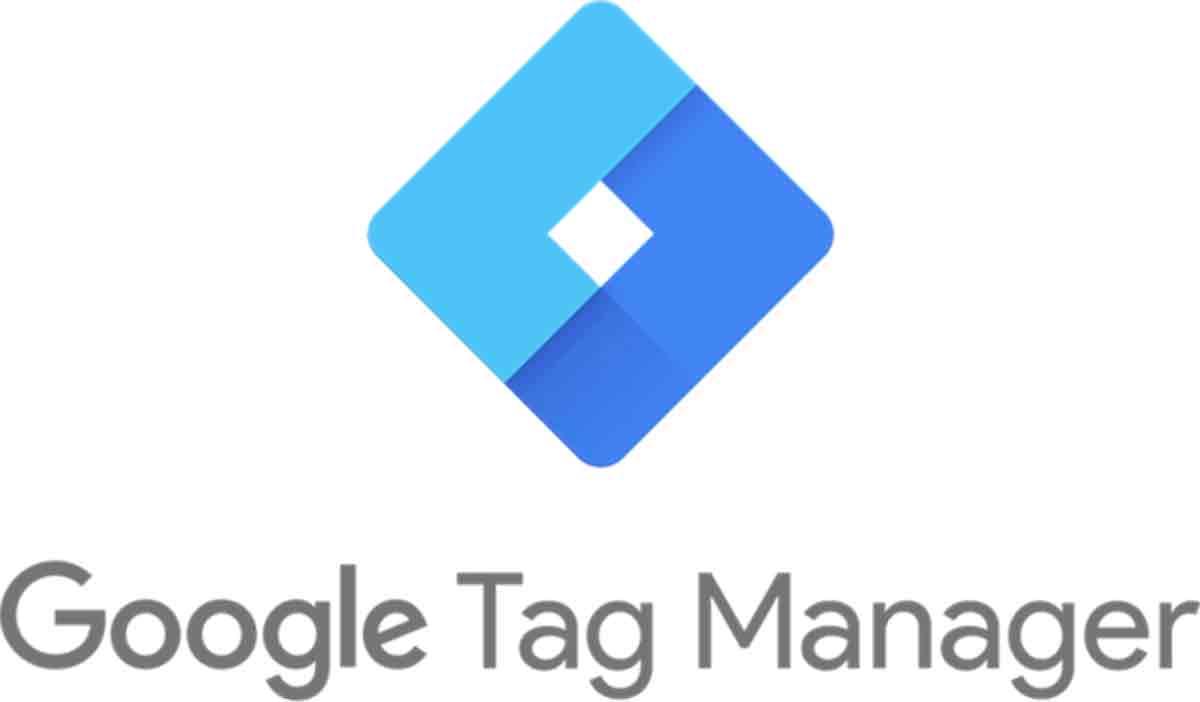 The blue, rhombus-shaped Google Tag Manager logo