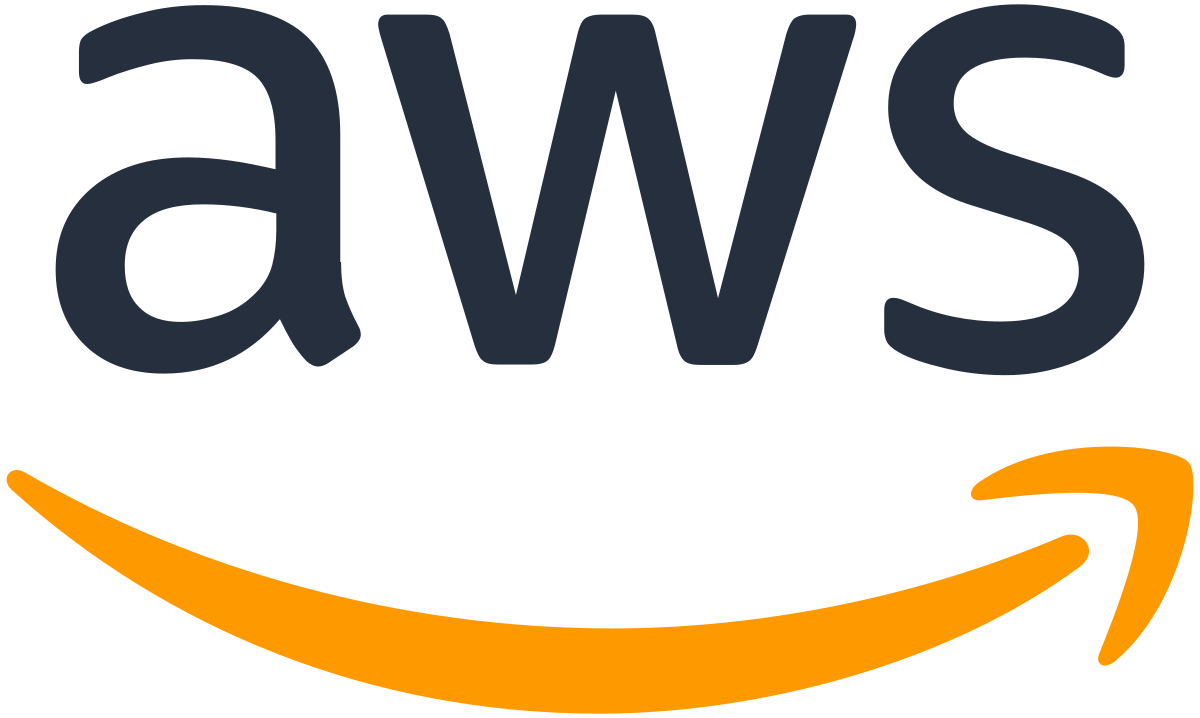 The AWS logo, an on-demand cloud computer platform and subsidiary of Amazon
