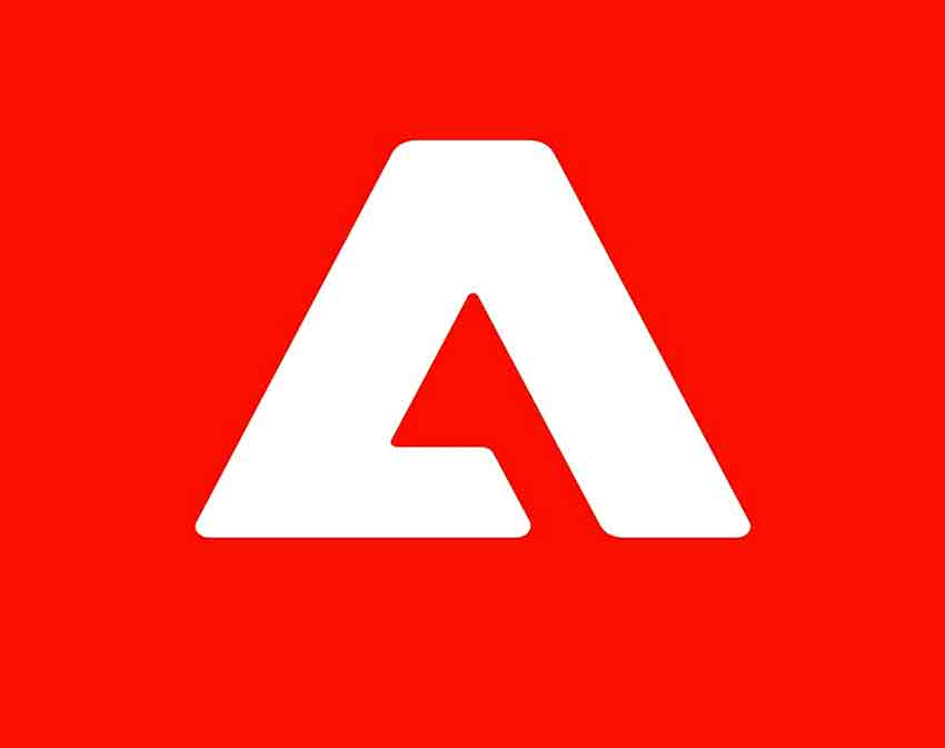 Adobe Experience Platform logo with white logo color and red background