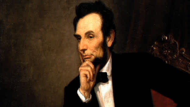 Painting of Abe Lincoln