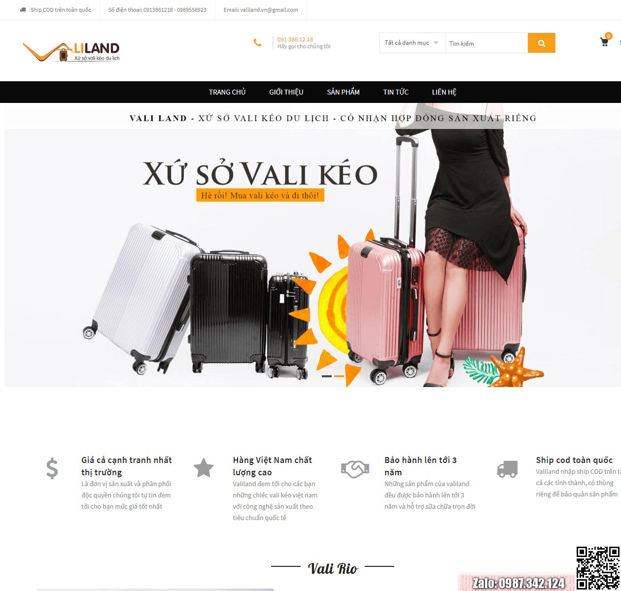 Mẫu web bán vali thumbnail