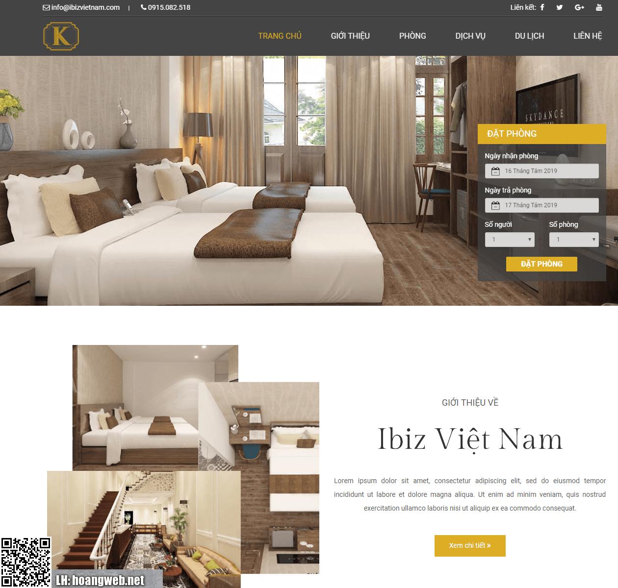 Web đặt phòng khách sạn thumbnail