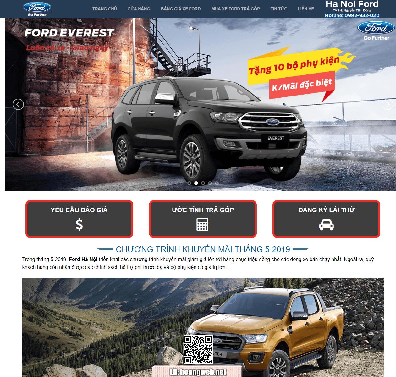 Web bán ôtô ford thumbnail