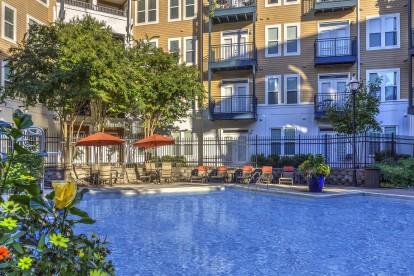 Resort style outdoor pool