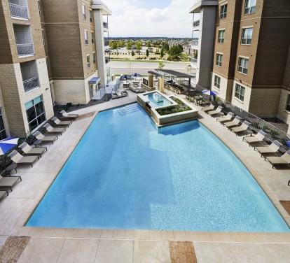 Resort style heated swimming pool