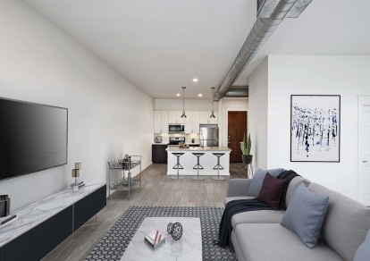 Contemporary style with kitchen island