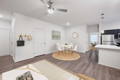 Open-Concept Kitchen and Living Room with Dining Table
