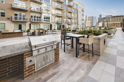 Outdoor kitchen and grills