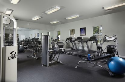 Fitness center with cardio circuit and strength training equipment