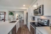 Kitchen quartz counters