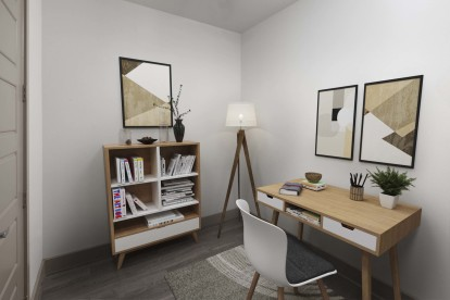 Study for home office in some floor plans