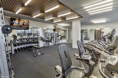 Two 24 hour fitness centers cardio and free weights