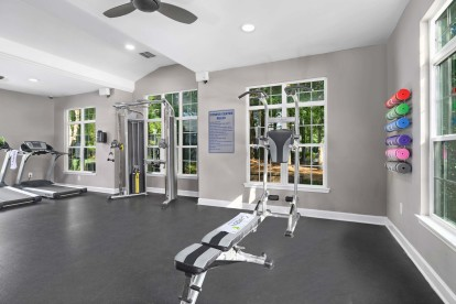 24 hour fitness center at Camden Reunion Park