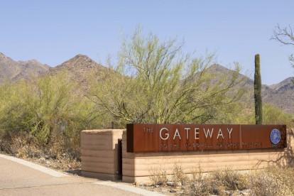 Neighborhood gateway trailhead to mcdowell mountain range