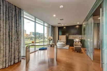 Resident spa room with views