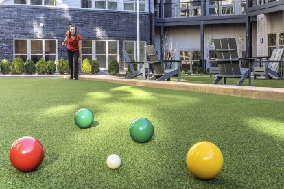 Apartments bocce ball court lawn games