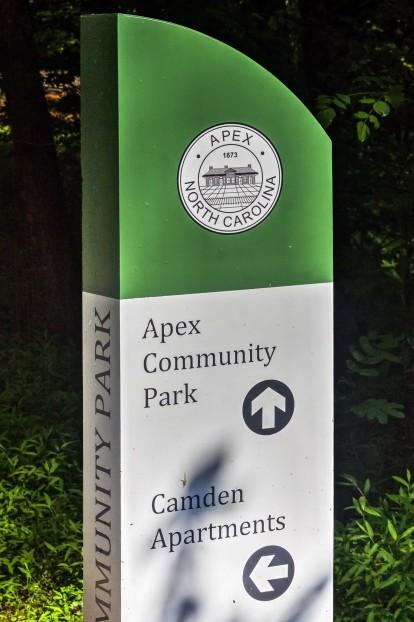 Adjacent to apex community park